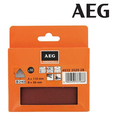AEG   Abrasive DELTA paper 240g, 1 pack = 10 pcs