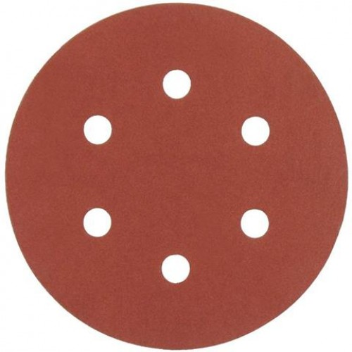 AEG   Disc abraziv  - carlig si bucla  - 6 gauri  150 mm 180g, 1 pachet = 5 pcs