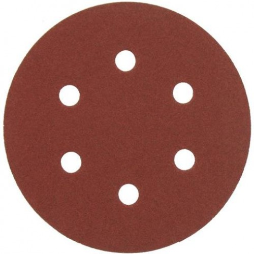 AEG   Disc abraziv  - carlig si bucla  - 6 gauri  150 mm 80g, 1 pachet  = 5 pcs
