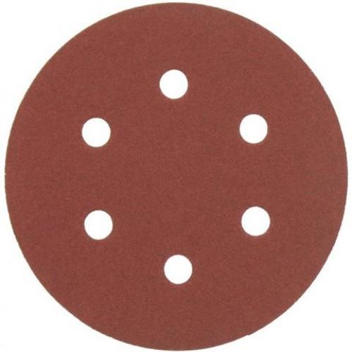 AEG   Disc abraziv  -carlig si bucla  - 6 gauri 150 mm 120g, 1 pachet  = 5 pcs