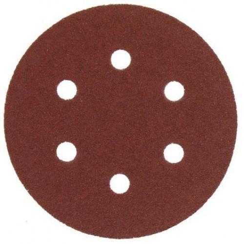AEG   Disc abraziv - carlig si bucla  - 6 gauri  150 mm 60g, 1 pachet  = 5 pcs