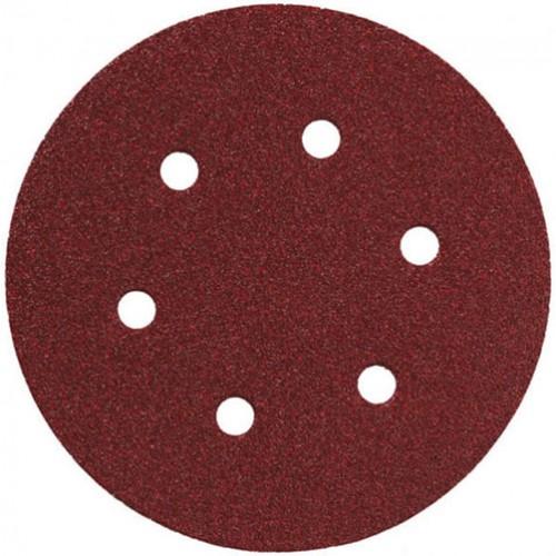 AEG   Disc abraziv - carlig si bucla 6 gauri  150 mm 240g, 1 pachet . = 5 buc
